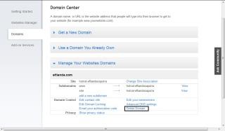 delete domain 2