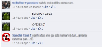 Invisible Name on Facebook