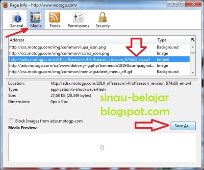 Cara Download Animasi Flash