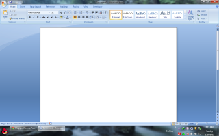 buka microsoft Word dahulu dan akan muncul gambar seperti gambar diatas